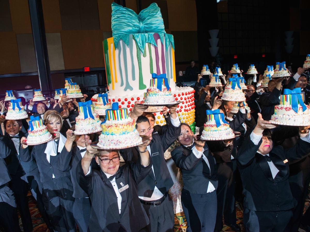Cake parade celebration at Memorial Hermann Gala