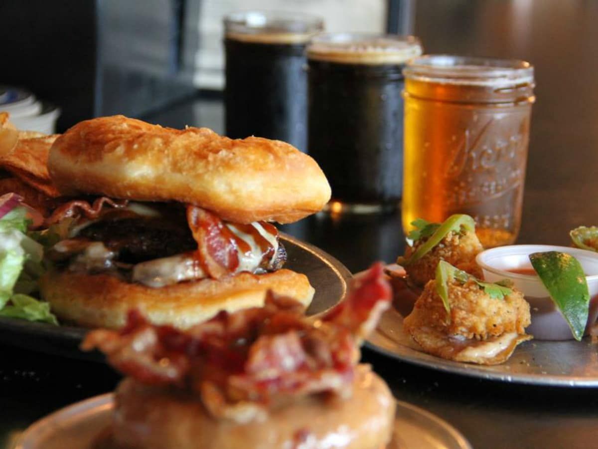 Gourdough's Public House doughnut donut burger