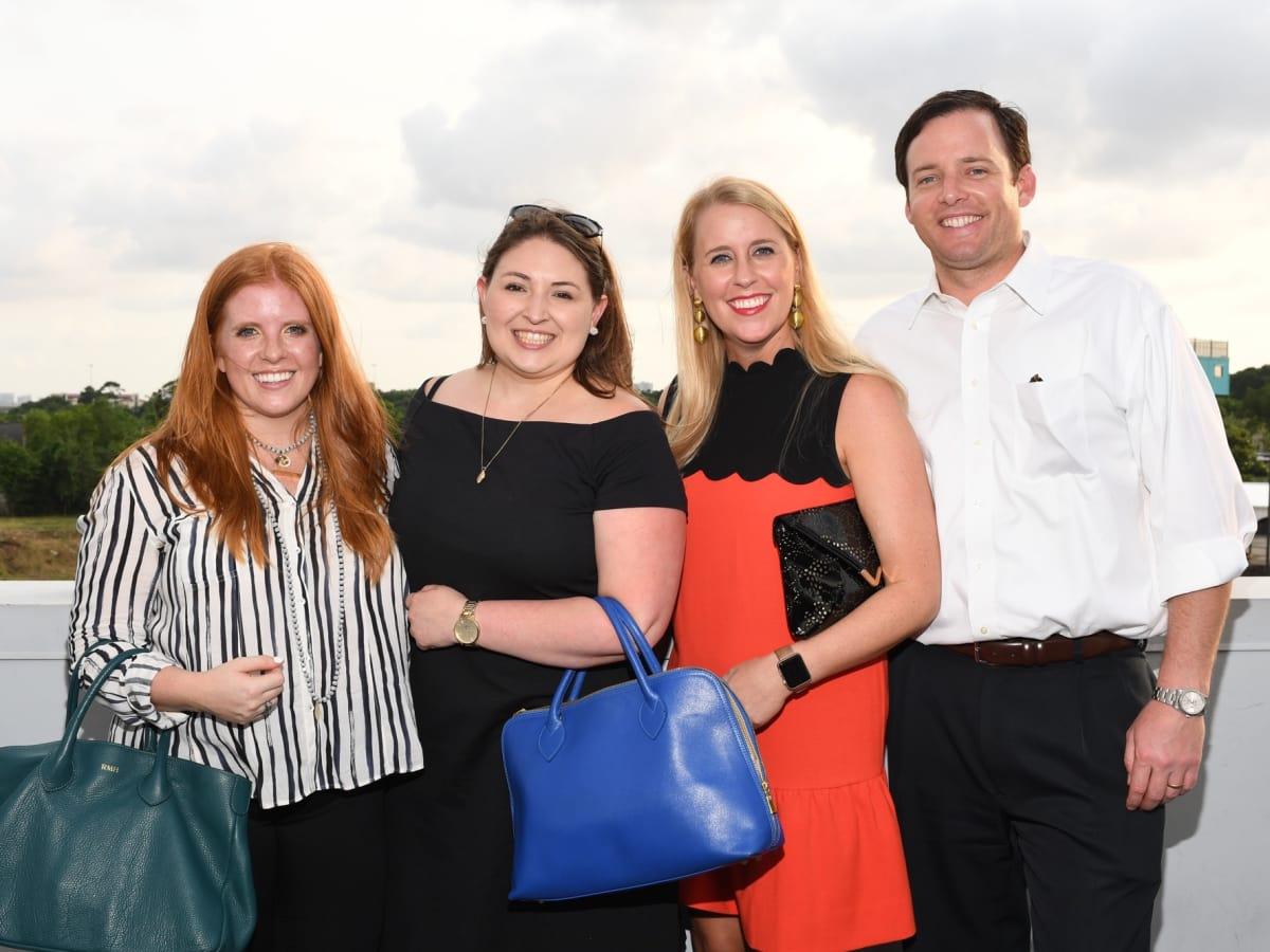 Rebecca Hoffman, Jordan McPhail, Arabella and Jamie Hibbert at Barbara Bush Foundation gala kickoff