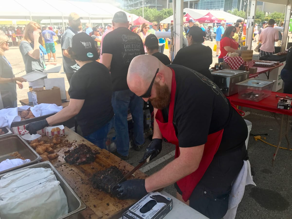 Houston Barbecue Festival Louie Mueller meat