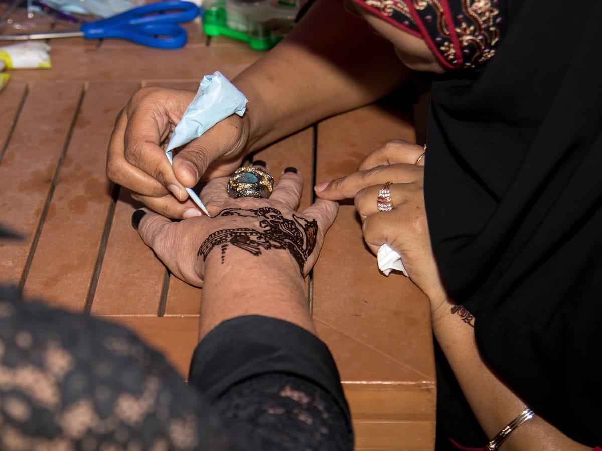 Henna tattoos at Yellow Rose Gala 2017