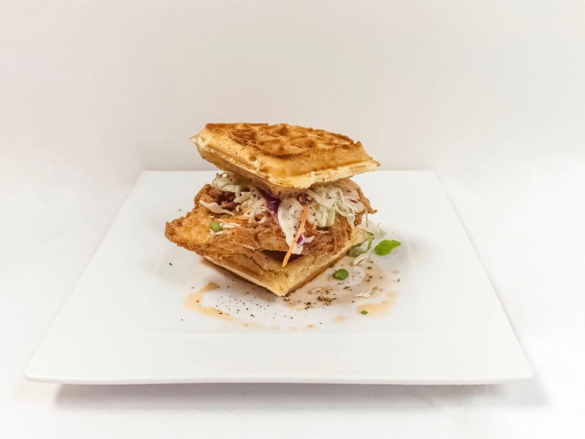 Krisp Bird & Batter waffle sandwich