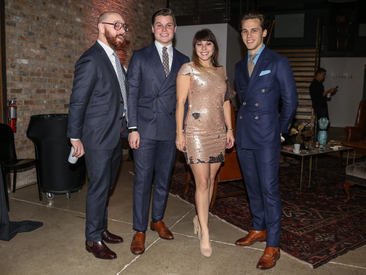 CultureMap Old Forester Bourbon Ball 2016 Andrew Tompkins Cole Cox Emily King Logan Carson Suit Supply