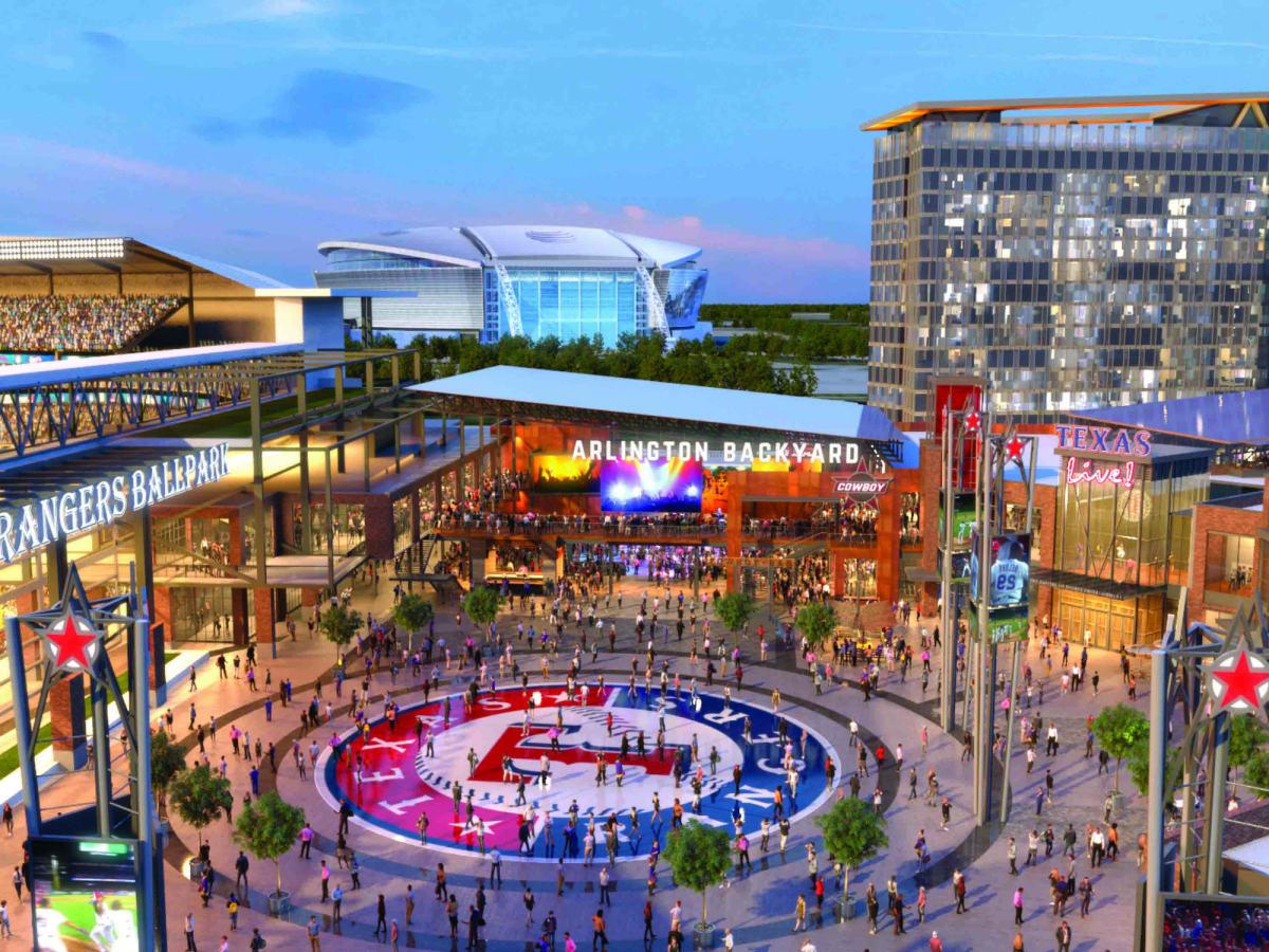 Rendering of Texas Live! development in Arlington