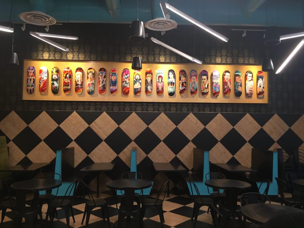 Pi Pizza skateboards