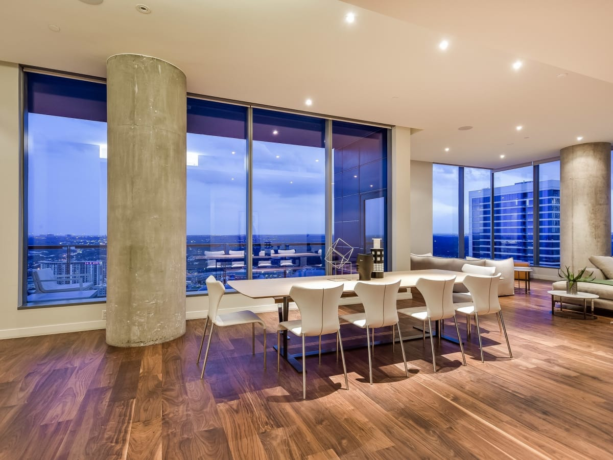 210 Lavaca Austin condo for sale dining room
