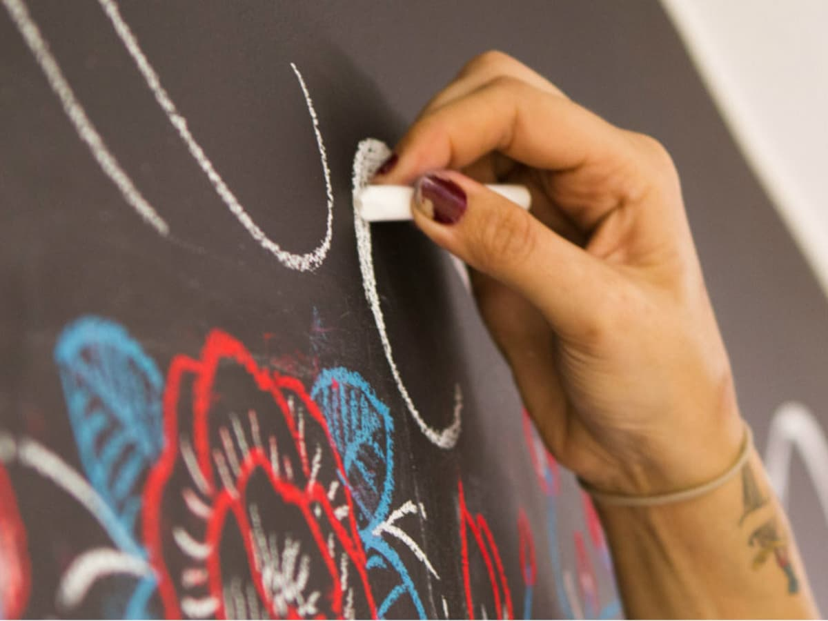 Chalkboard art at Creating in Cahoots in McKinney