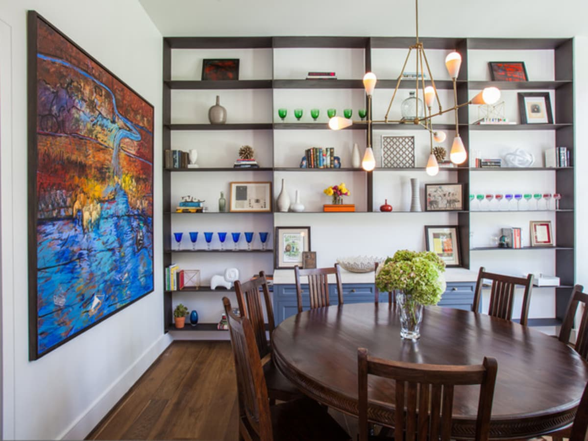 Houzz Houston house home Southern Americana Spanish colonial June 2016 dining room