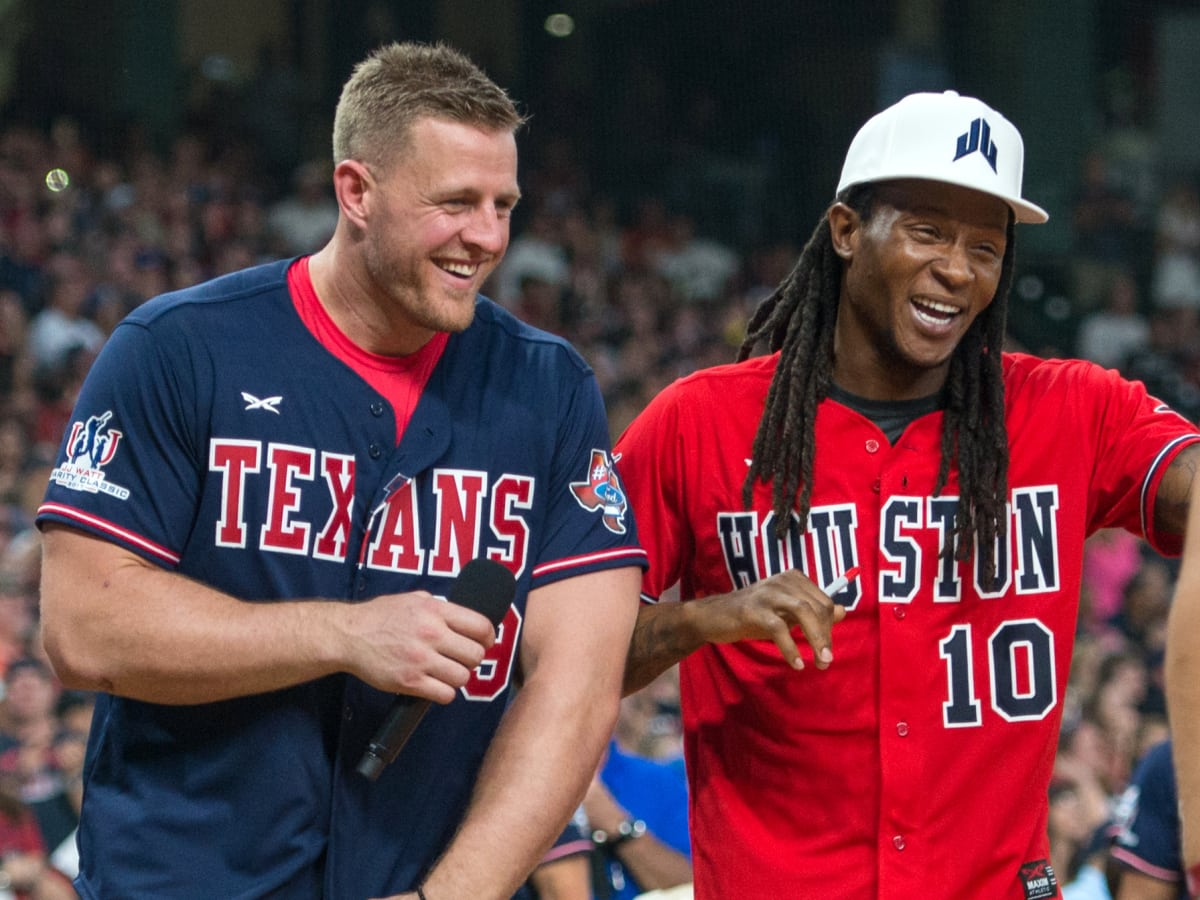 Houston, J.J. Watt Charity Classic, May 2017, JJ Watt, DeAndre Hopkins