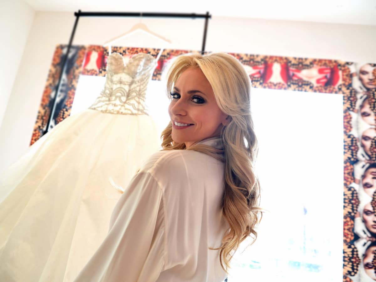 Houston, Chita Johnson wedding, June 2016, Chita with her dress getting ready