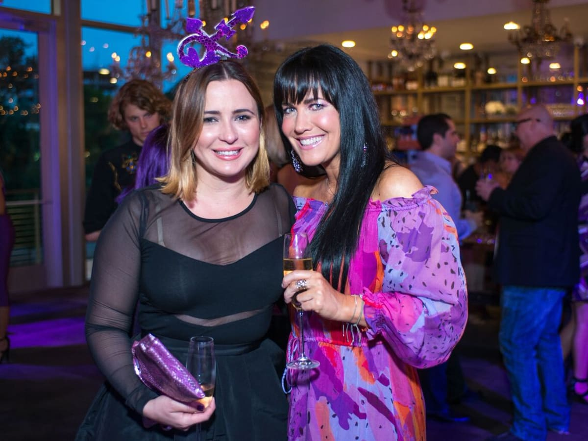 Purple party, Michelle Reynda de Taussig, Tiffany Halik