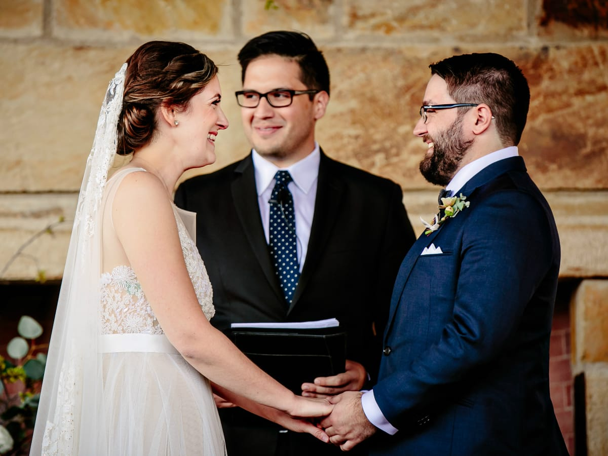 Wedding Maggie Bang and Austen Miller Fredericksburg Boot Ranch bride groom vows