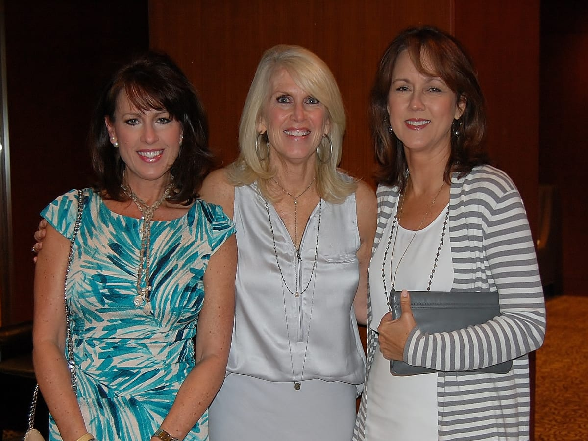 Brookwood luncheon, Brenda Hicks, Danna Burkett, Cindy Holmes