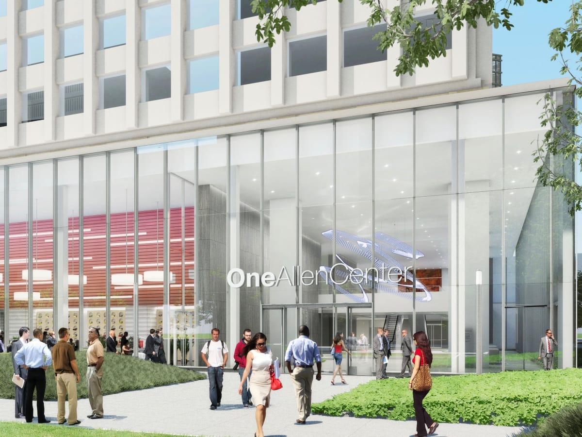 One Allen Center new lobby