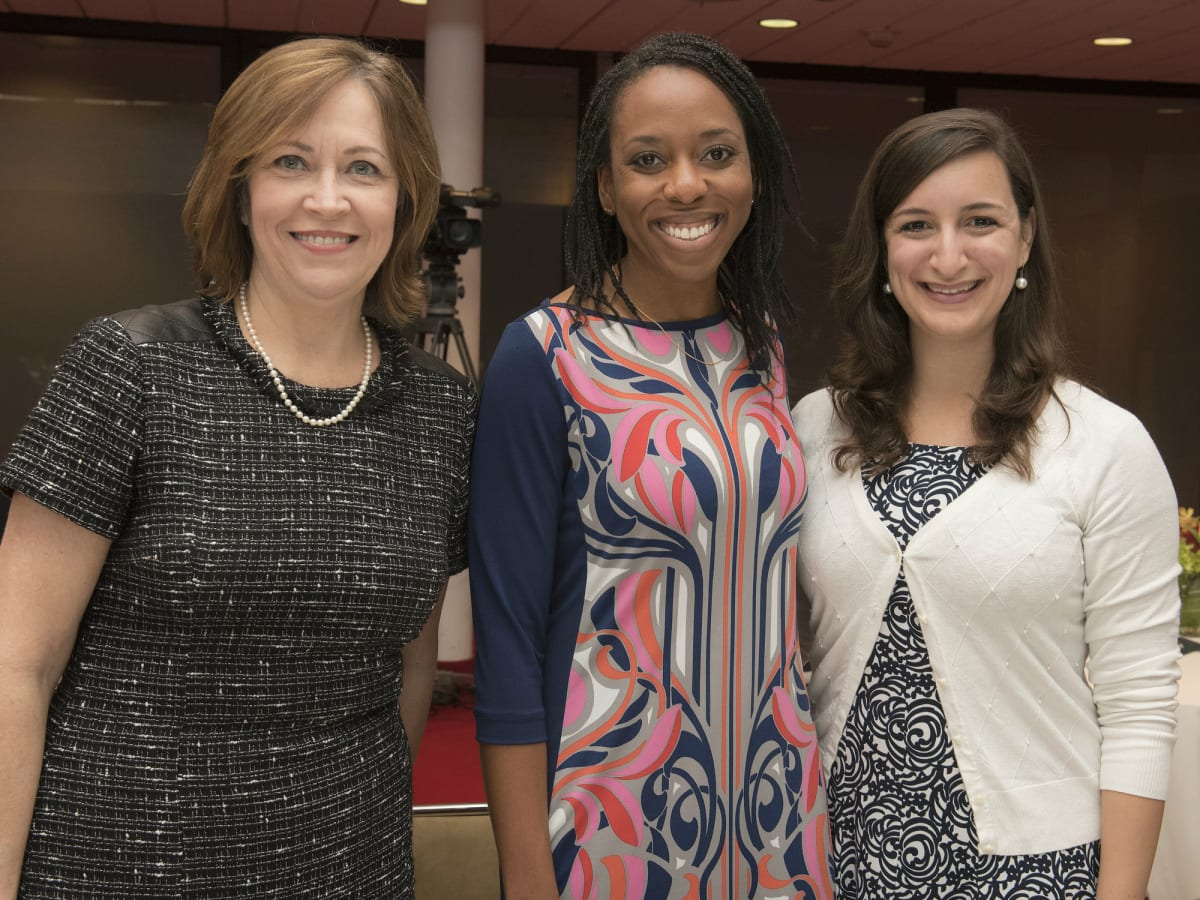 Women in Leadership luncheon LBJ Future Forum May 2016 Ellen Arnold Aerin Pfaffenberger Meghan Kempf