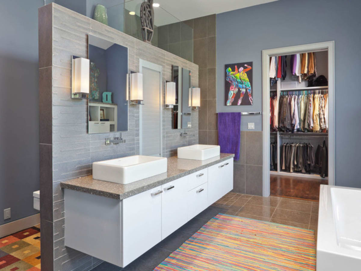 Houzz Houston Heights modern home tour bathroom