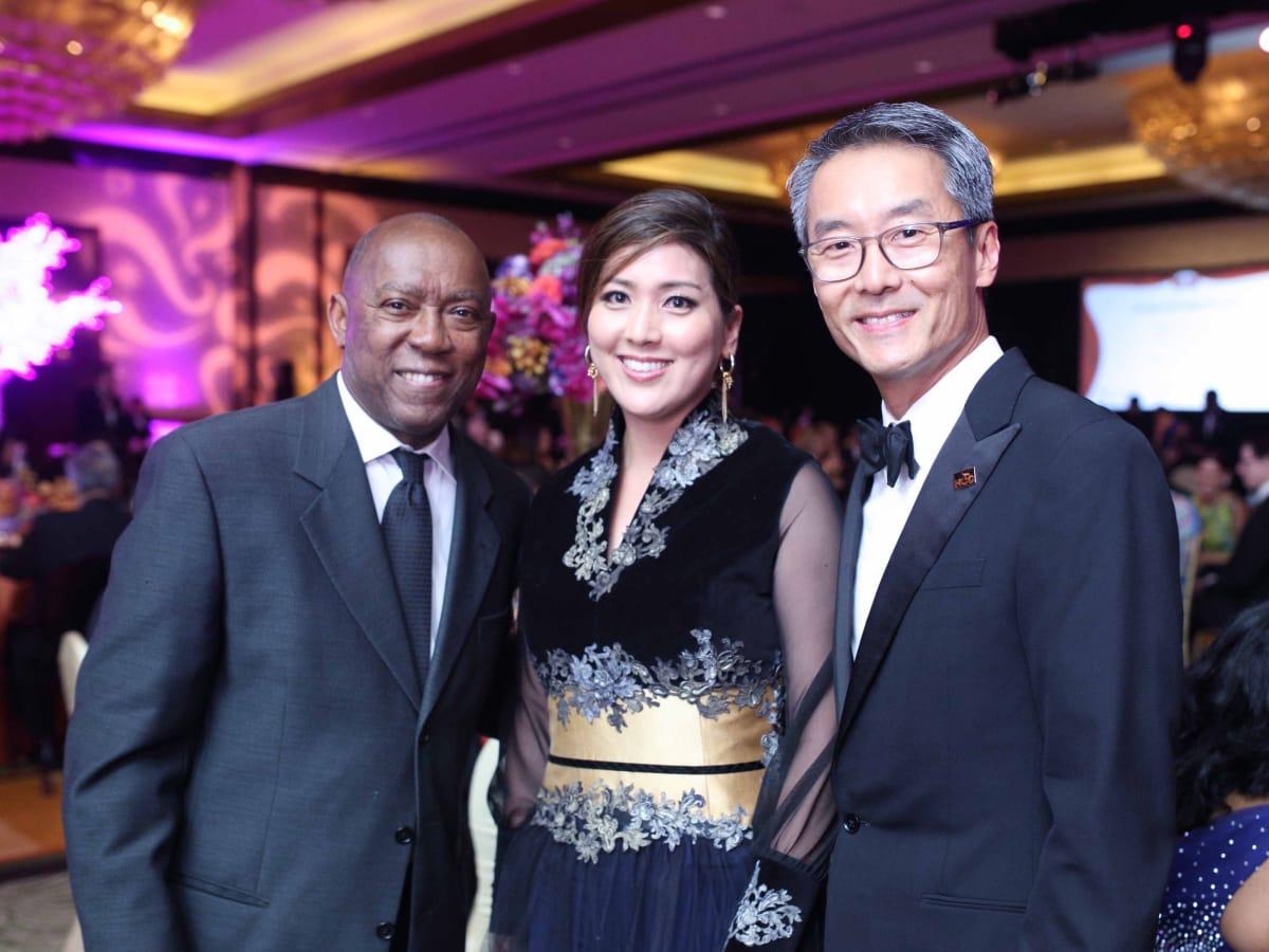 HCC Foundation gala 4/16, Mayor Sylvester Turner, Sue Sim, Randy Sim