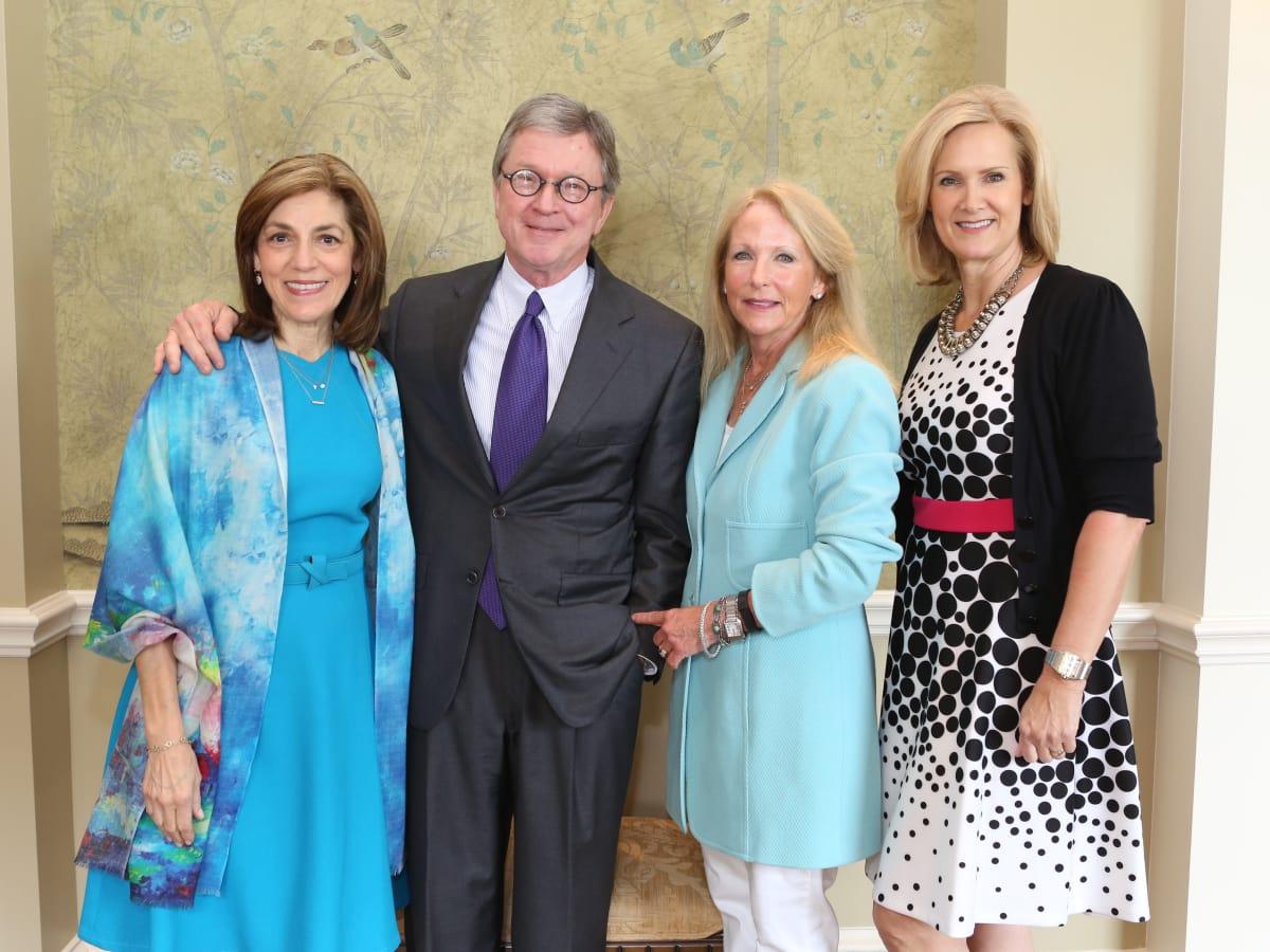 Partners Luncheon 4/16, Maria Pappas, Phil Ferguson, Kathy O'Neil and Kate Lucrezi.