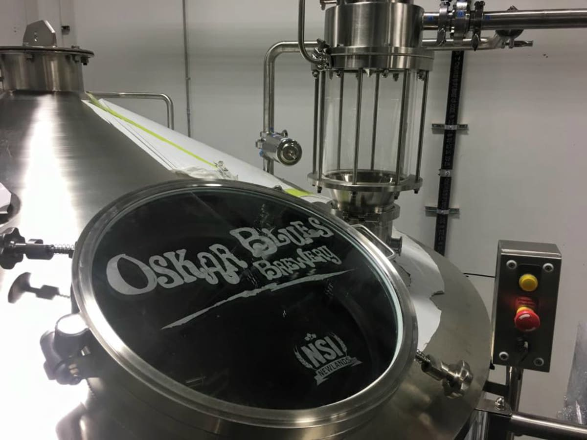 Oskar Blues Brewery Austin tank