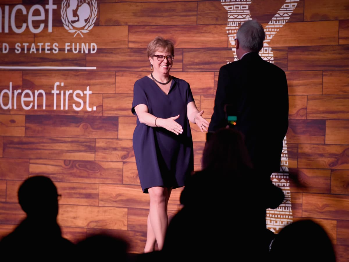 U.S. Fund for UNICEF President/CEO Caryl Stern, Alex Smith