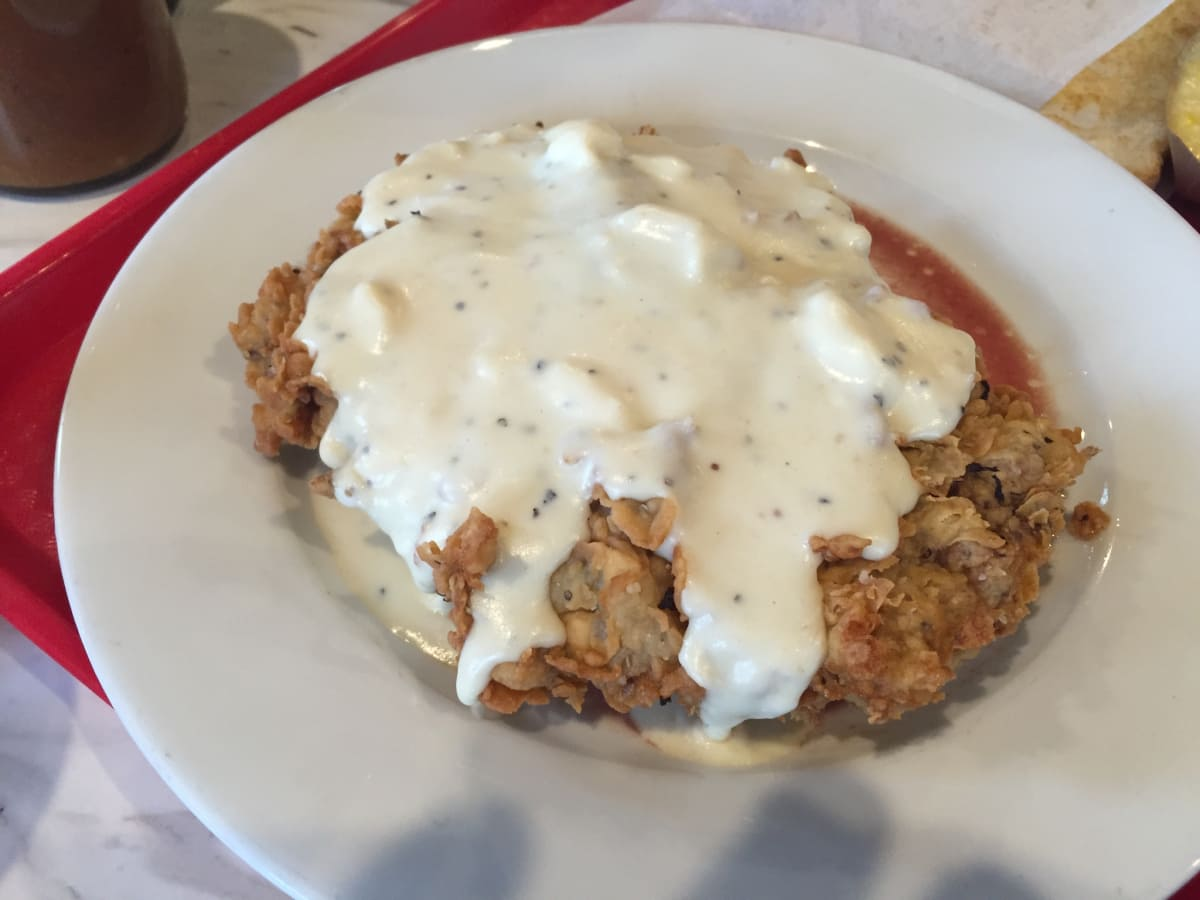 Killen's barbecue chicken fried steak