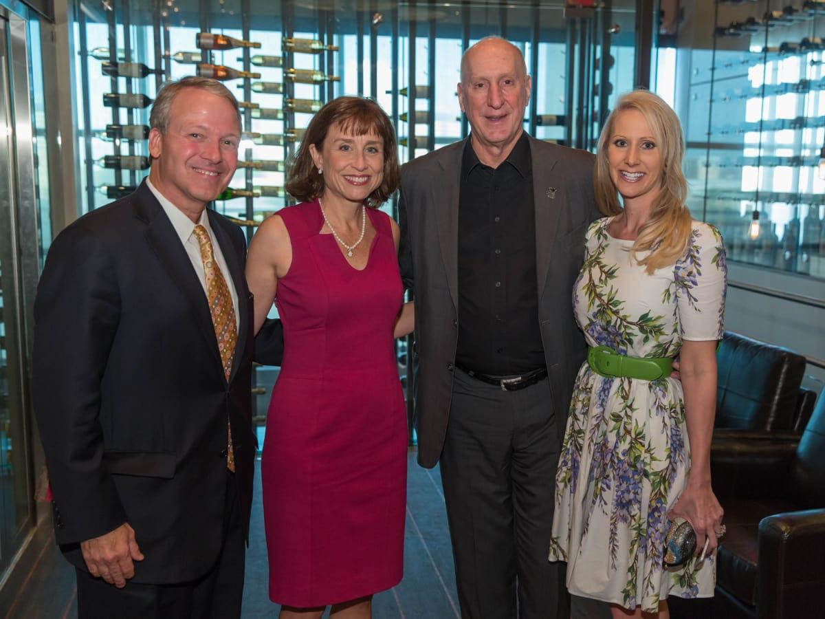 Houston Methodist Leading Hearts, April 2016, Dr. Marc Boom, Dr. Julie Boom, Tracy Krohn, Lori Krohn