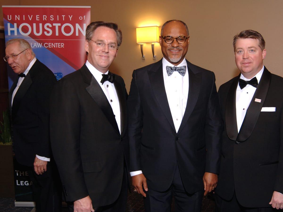 UH Law gala, April 2016, Warren Harris, Jarvis Hollingsworth, Richard Whiteley