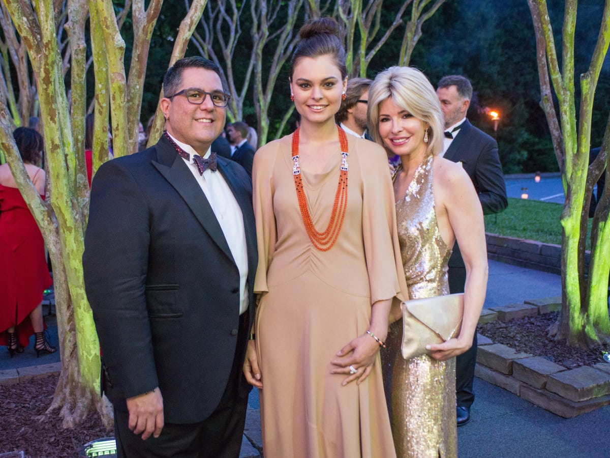 Van Cleef & Arpels party, April 2016, Dr. Roland Maldonado, Van Cleef model, Nancy Marcus Golden