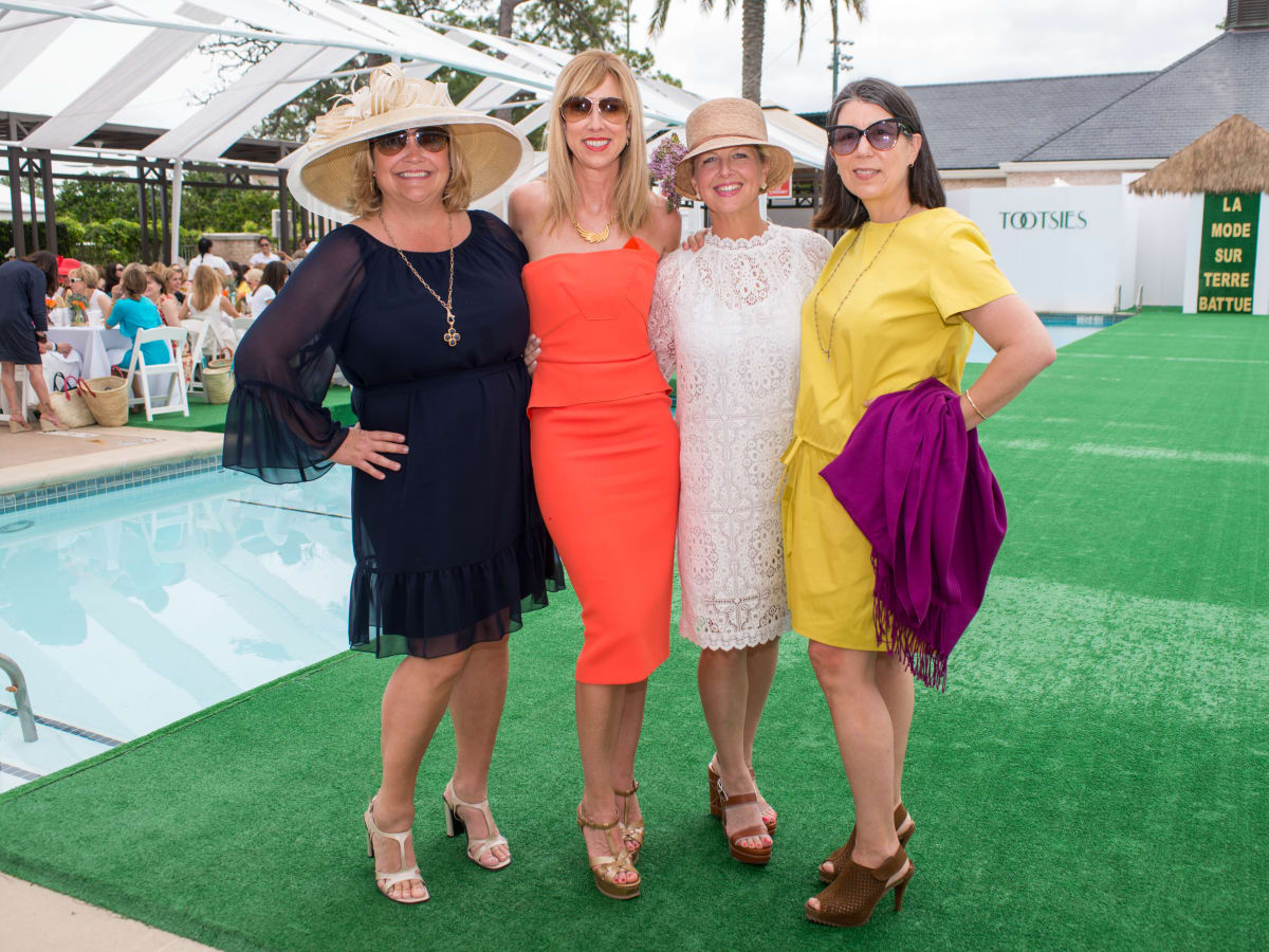 River Oaks Tennis Luncheon, April 2016, Julie Humphreys, Caroline Finkelstein, Libby Morrell, Susan Scotty