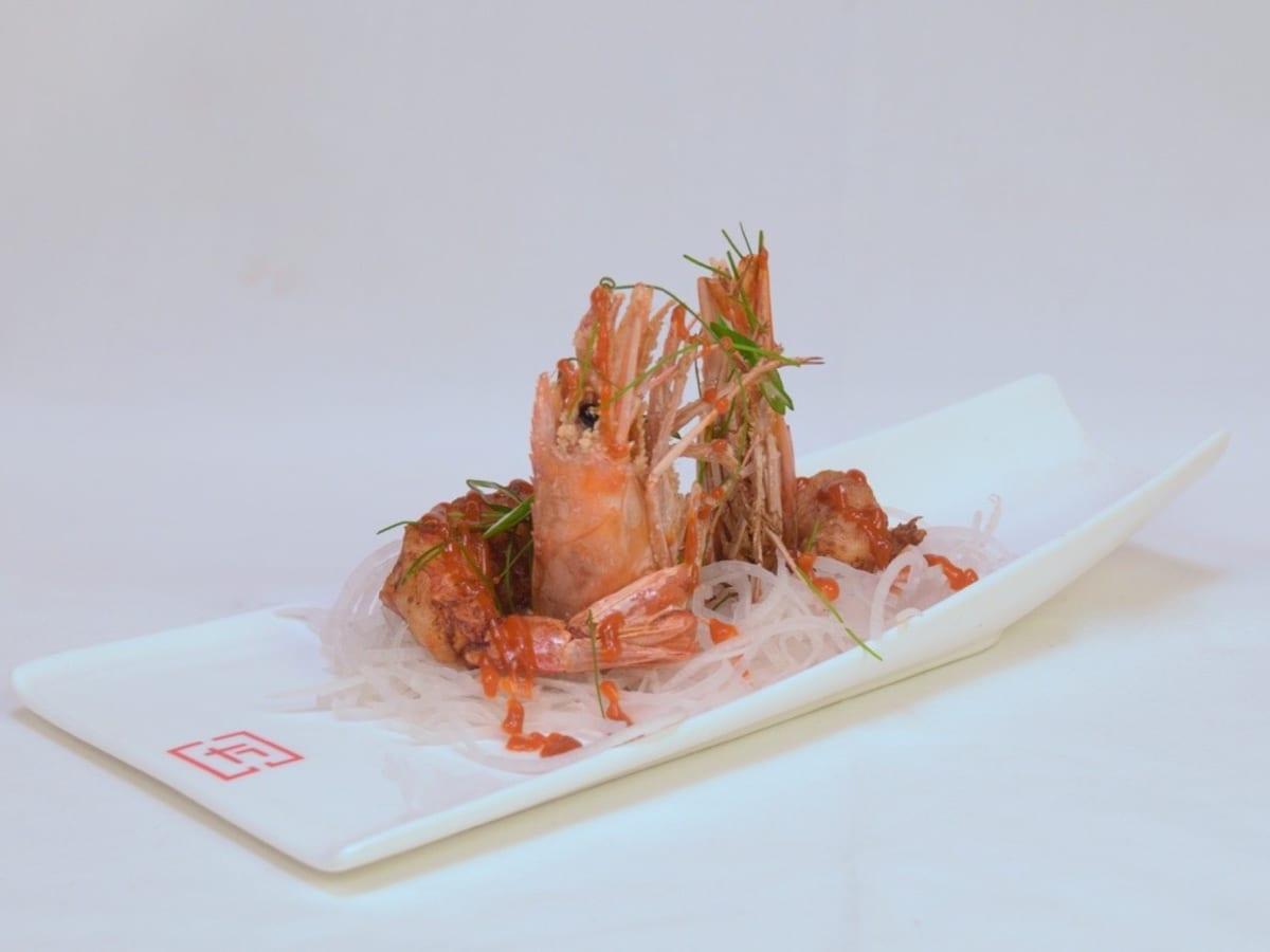 Tarakaan Ami Ebi large fried prawns