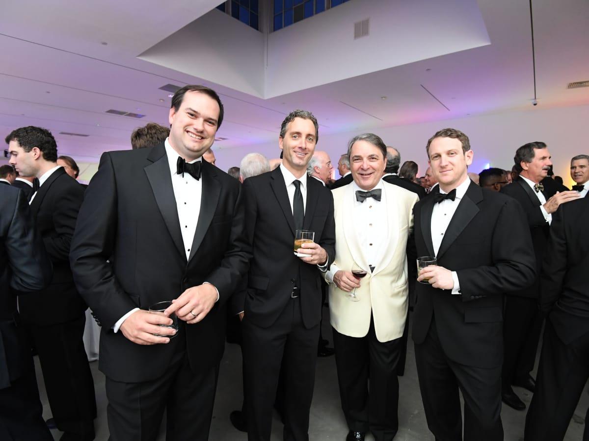 David Petersen, Menil Curator of Collections Paul Davis, Mark Wawro, Alex Kaplan at Men of Menil 2016