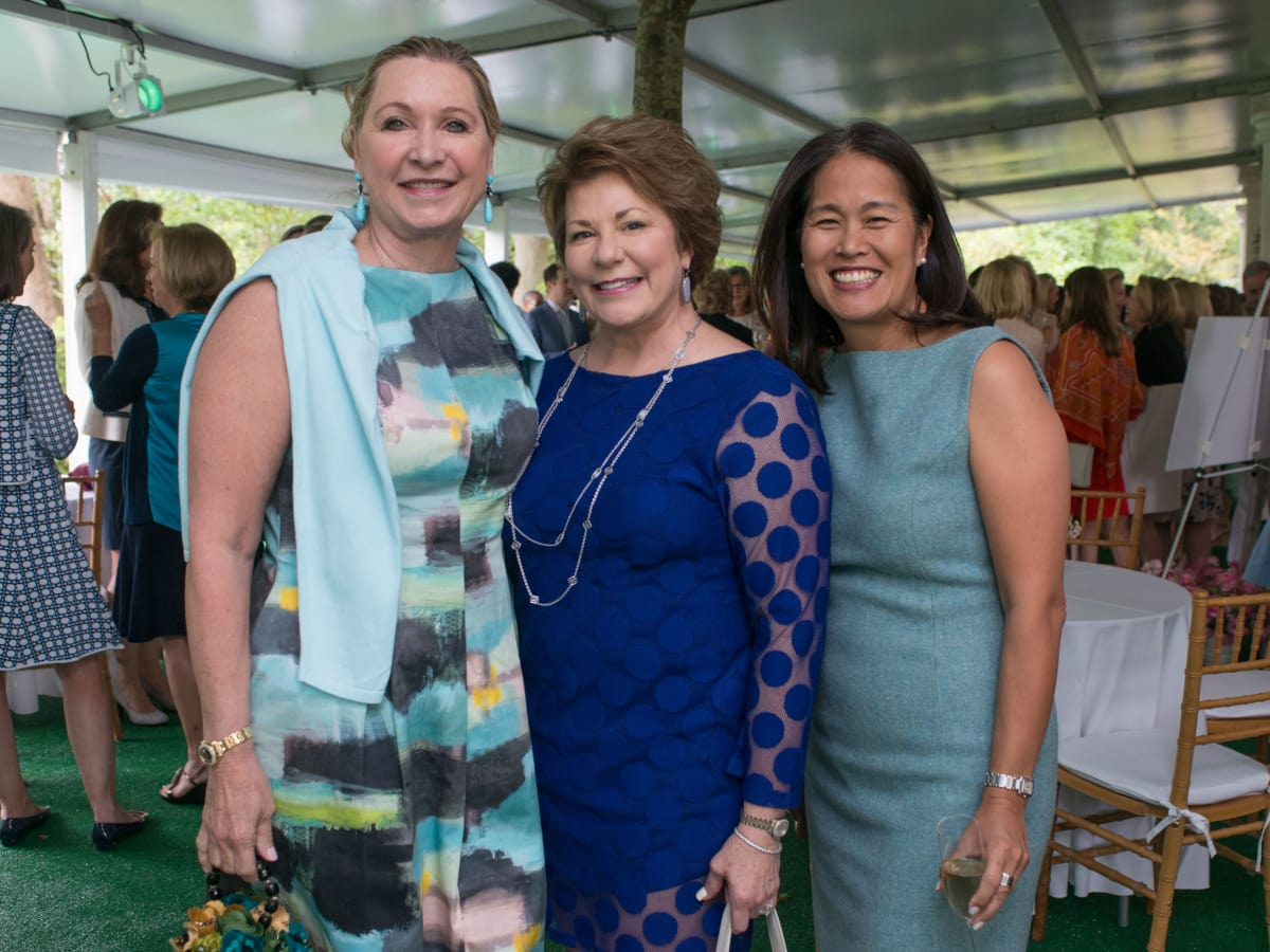 Bayou Bend luncheon, April 2016, Carol Linn, Karen Stall, Garce Kim
