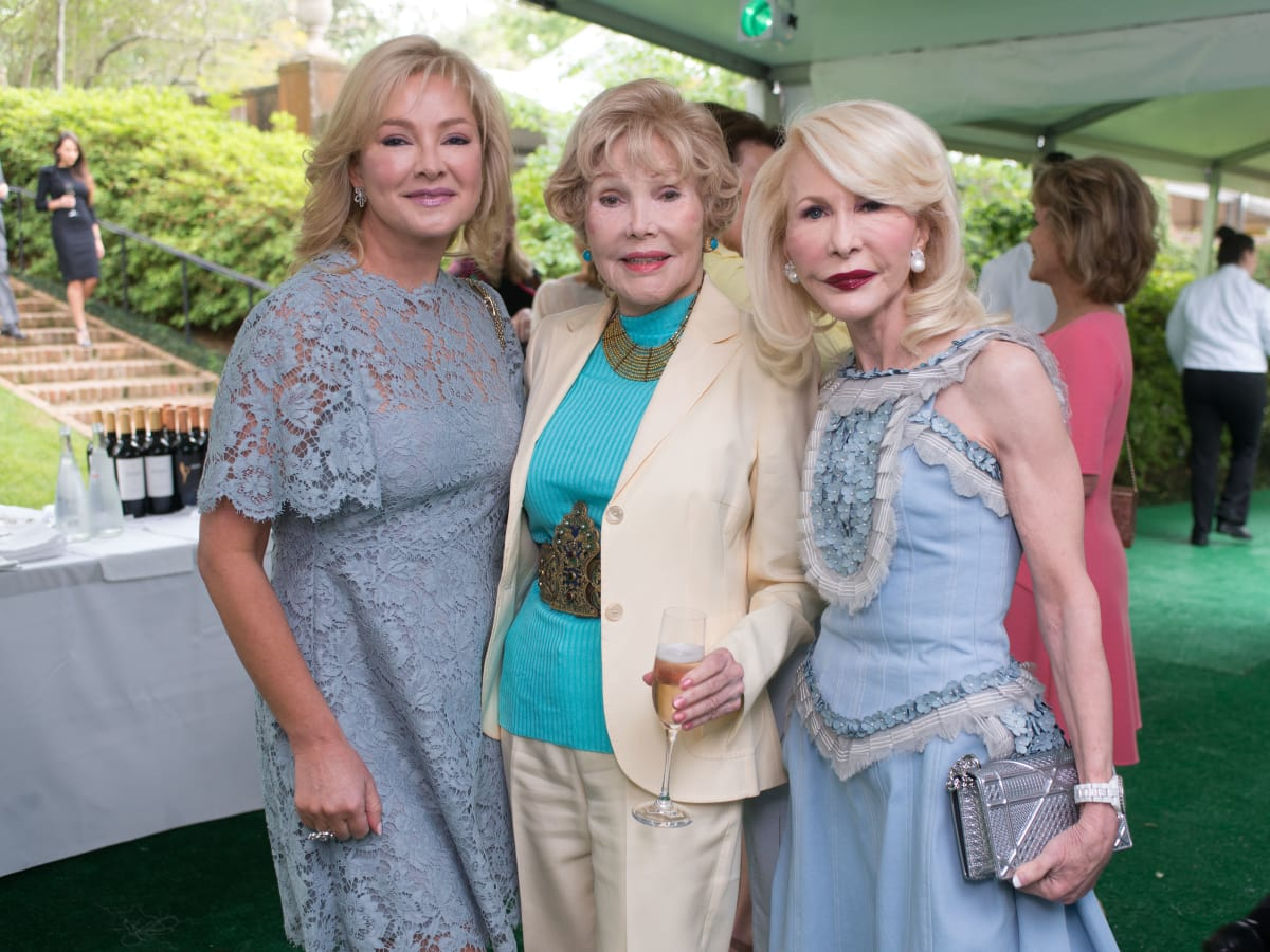 Bayou Bend luncheon, April 2016, Whitney Wheeler, Joanne King Herring, Diane Lokey Farb