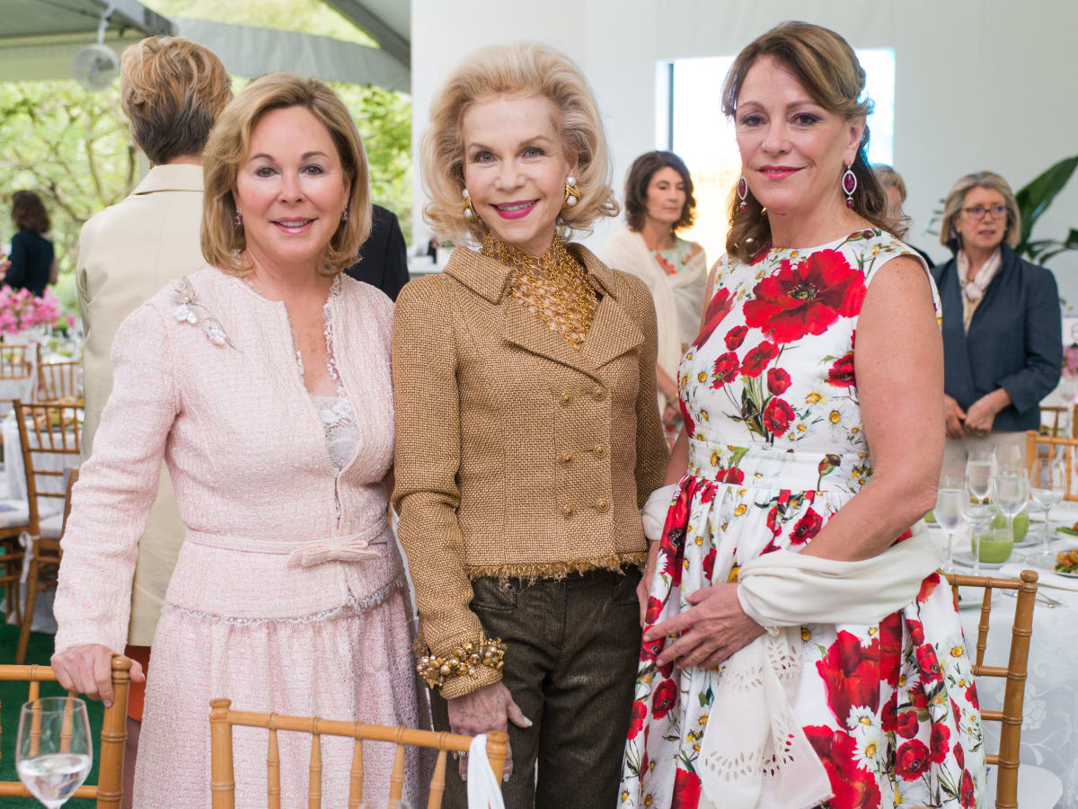 Bayou Bend luncheon, April 2016, Nancy Kinder, Lynn Wyatt, Franci Neely