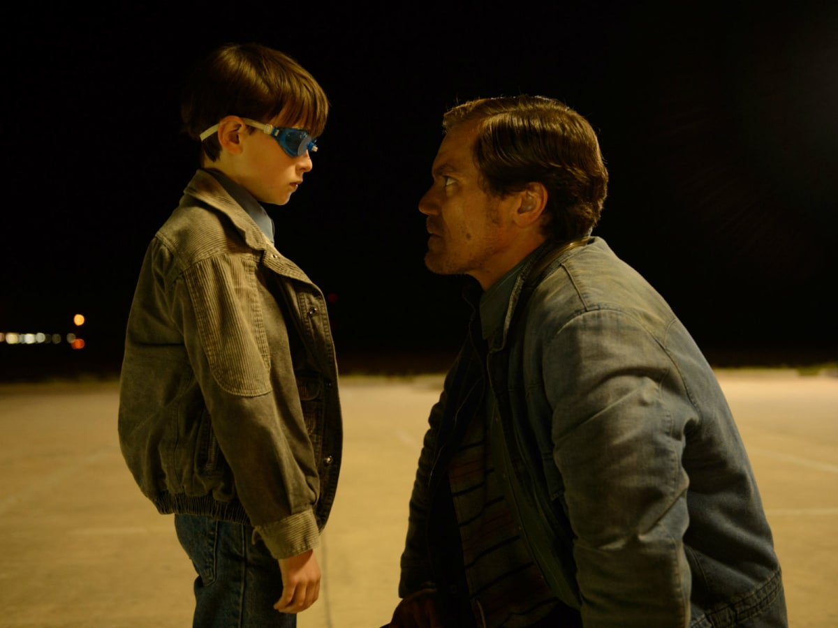 Jaeden Lieberher and Michael Shannon in Midnight Special