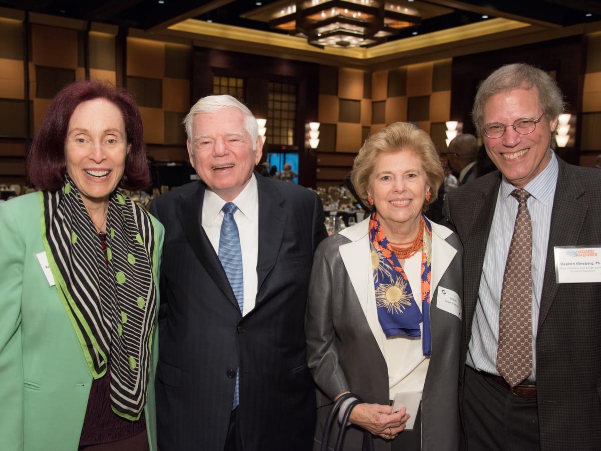 Center for Houston's Future luncheon, March 2016, Karen Otazo Hofmeister, Eugene Vaughan, Susan Vaughan, Stephen Klineberg