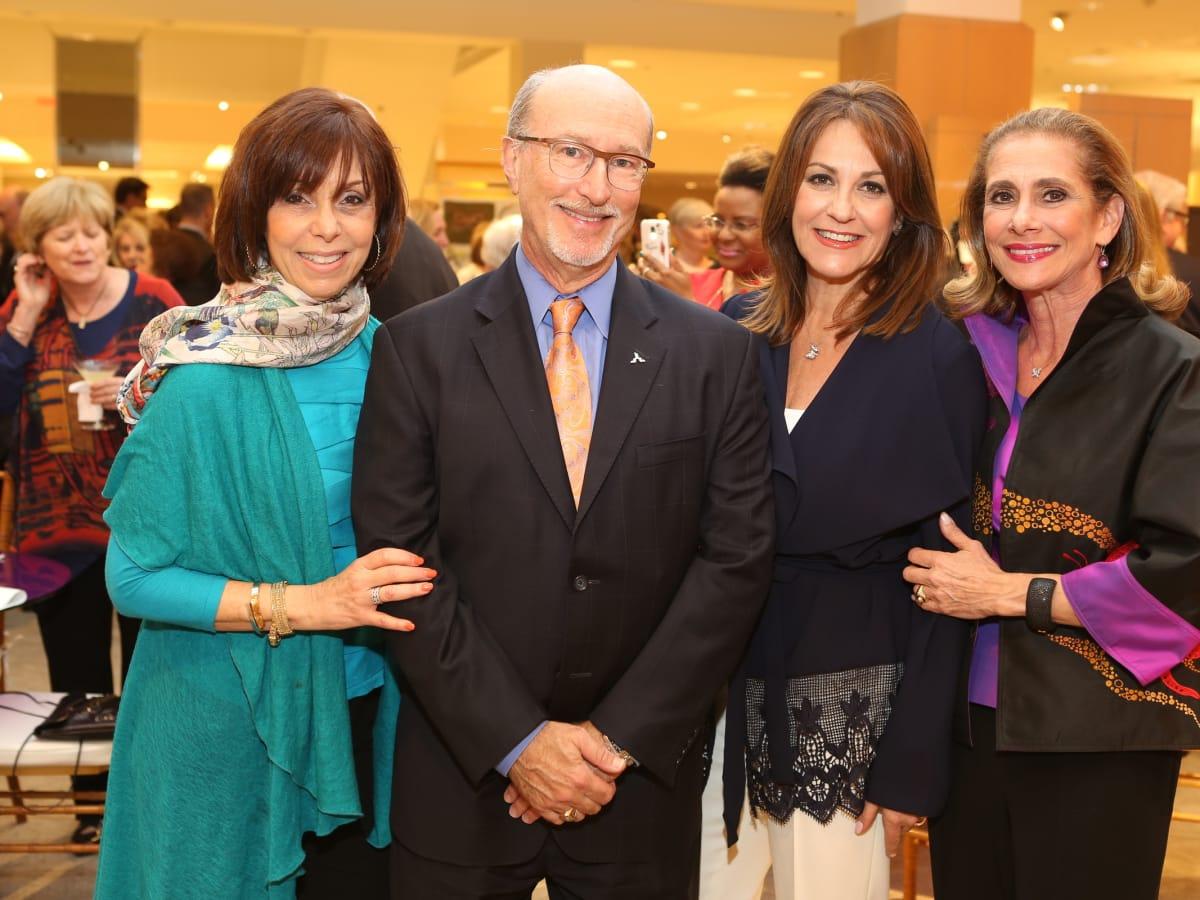 Holocaust Museum Houston Butterfly Project, March 2016, Eileen Weisman (Board Member), Mark Mucasey (Board Member), Tali Blumrosen (Butterfly Project Chair), Gail Klein (Board Chair)