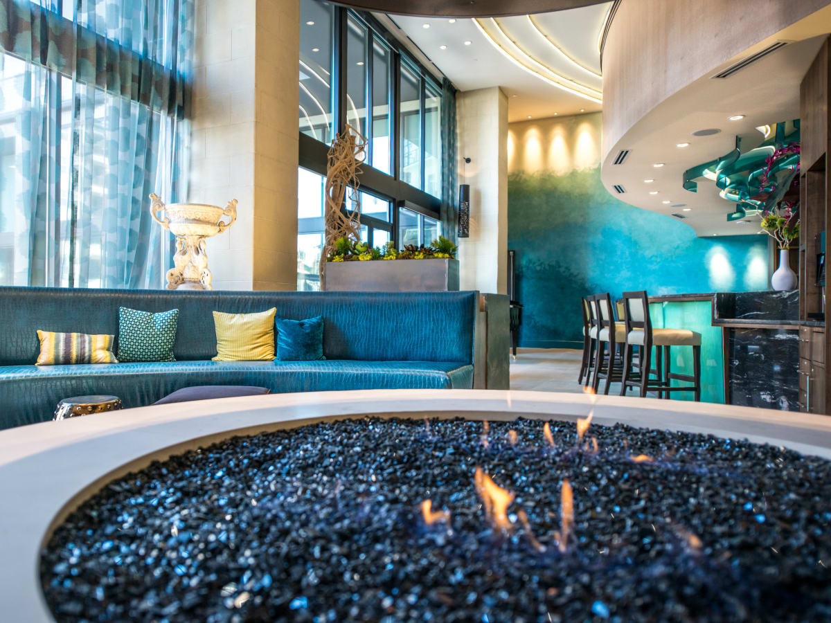 Fire pit at The Taylor in Dallas