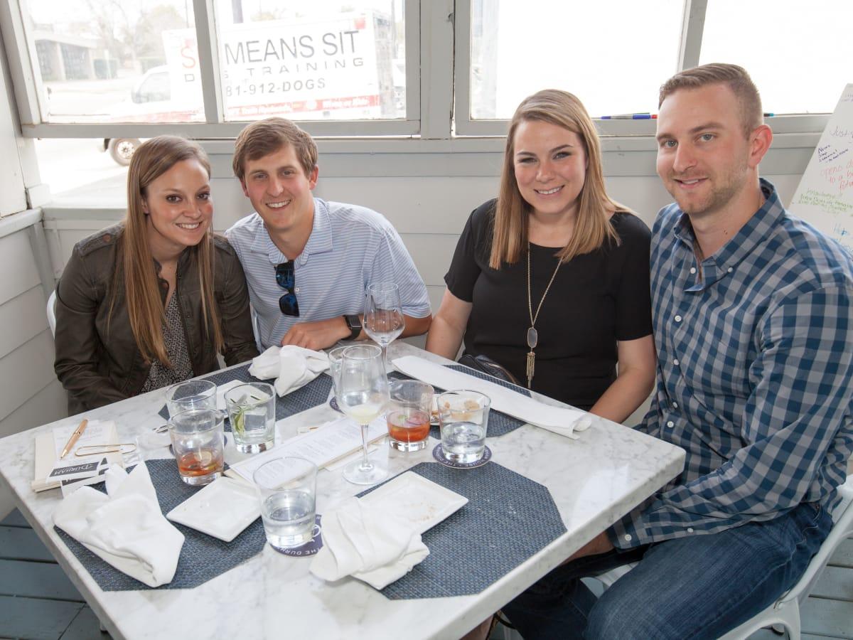 Durham House brunch, March 2016, Melinda Sisk, Dylan Koonce, Kelly Bronson, Evan Bronson