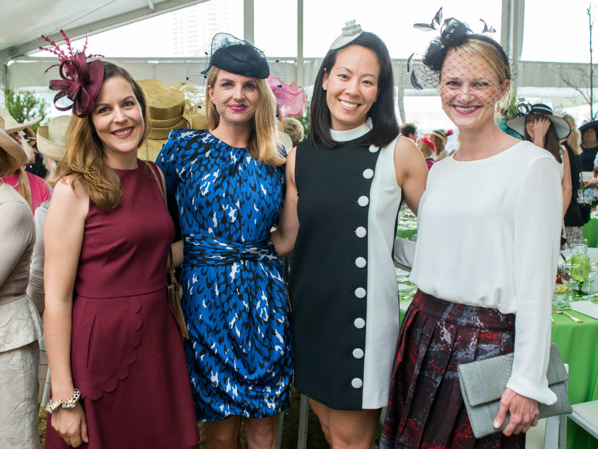 Hats in the Park, March 2016, Caroline Simons, Lindley Arnoldy, Ting Bresnehan, Morgan Garvey