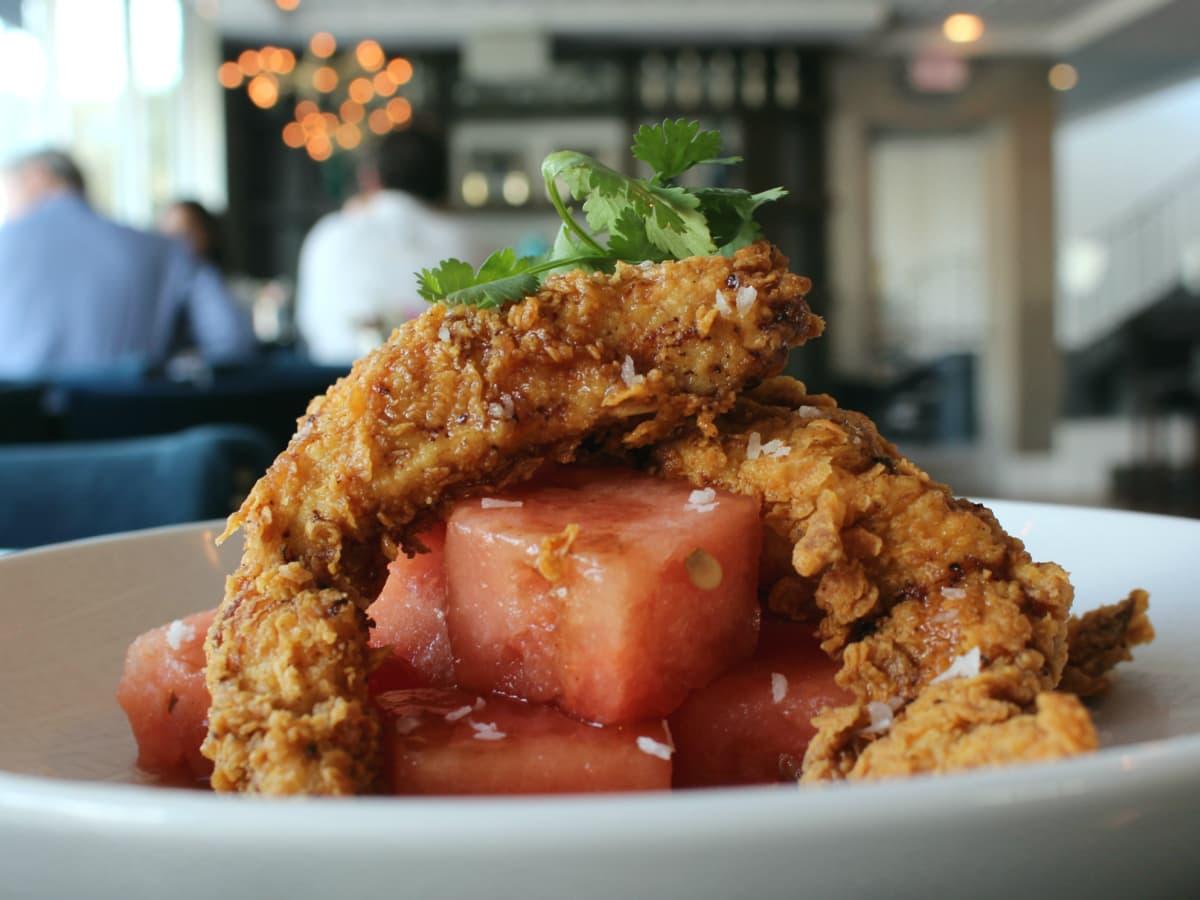 St Genevieve Austin bar Rock Rose March 2016 mumbai chicken