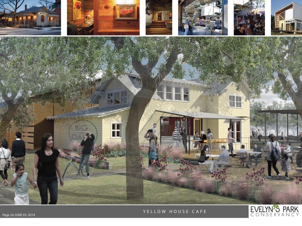 Evelyn Park Cafe rendering
