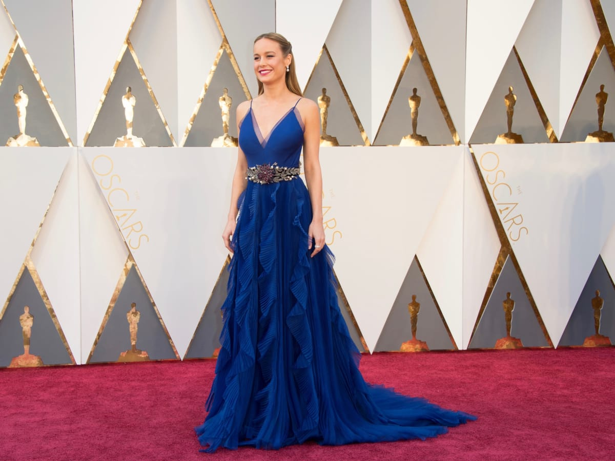 Brie Larson at Oscars in Gucci