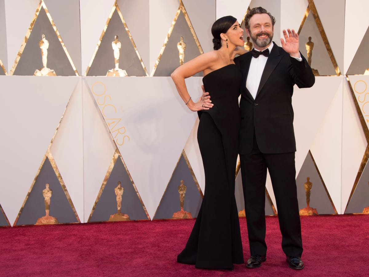 Sarah Silverman and Michael Sheen at Oscars