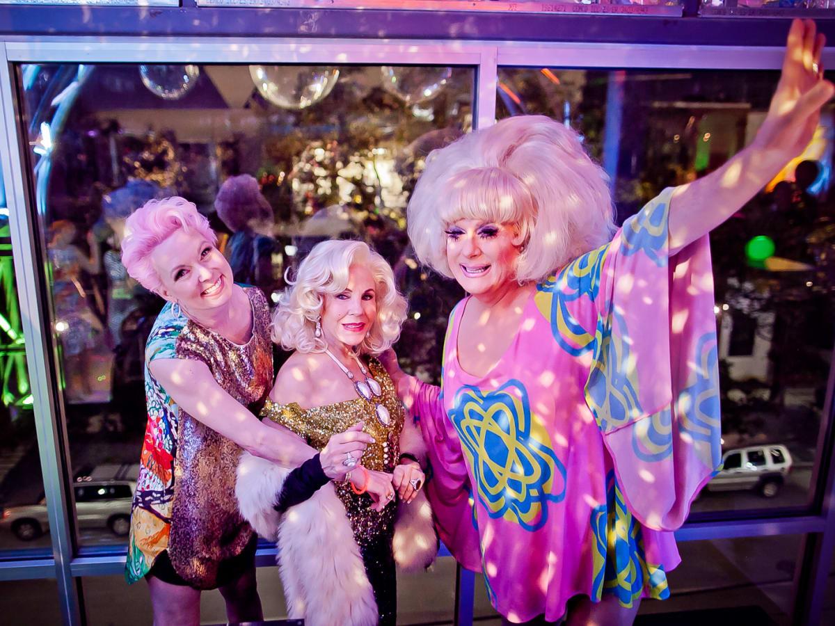 The Paint Ball, Feb. 2016, Vivian Wise, Carolyn Farb, Lady Bunny