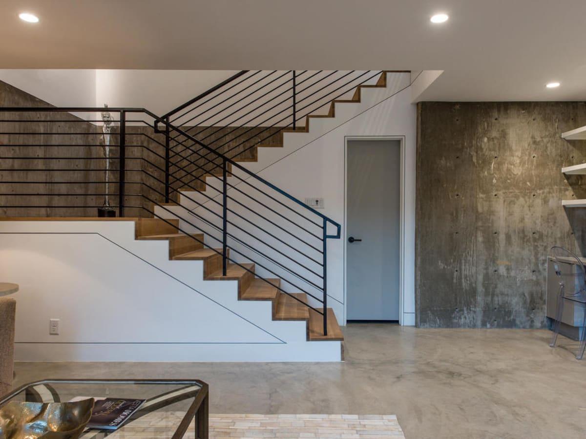 2016 Austin Modern Home Tour house 2708 Townes Lane Bercy Chen Studio stairs
