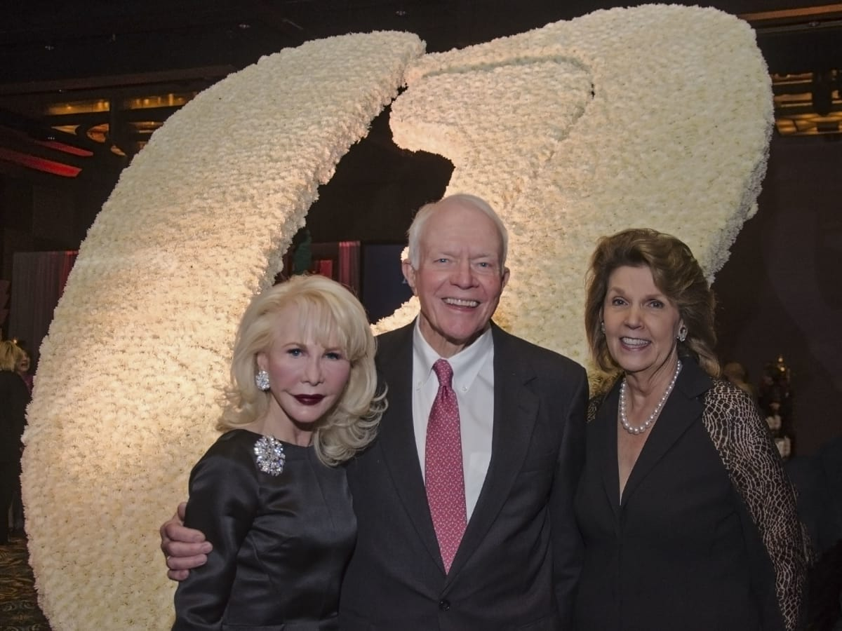 Texas Heart Institute dinner, Feb. 2016, Diane Lokey Farb, Thurmon Andress, Lilly Andress
