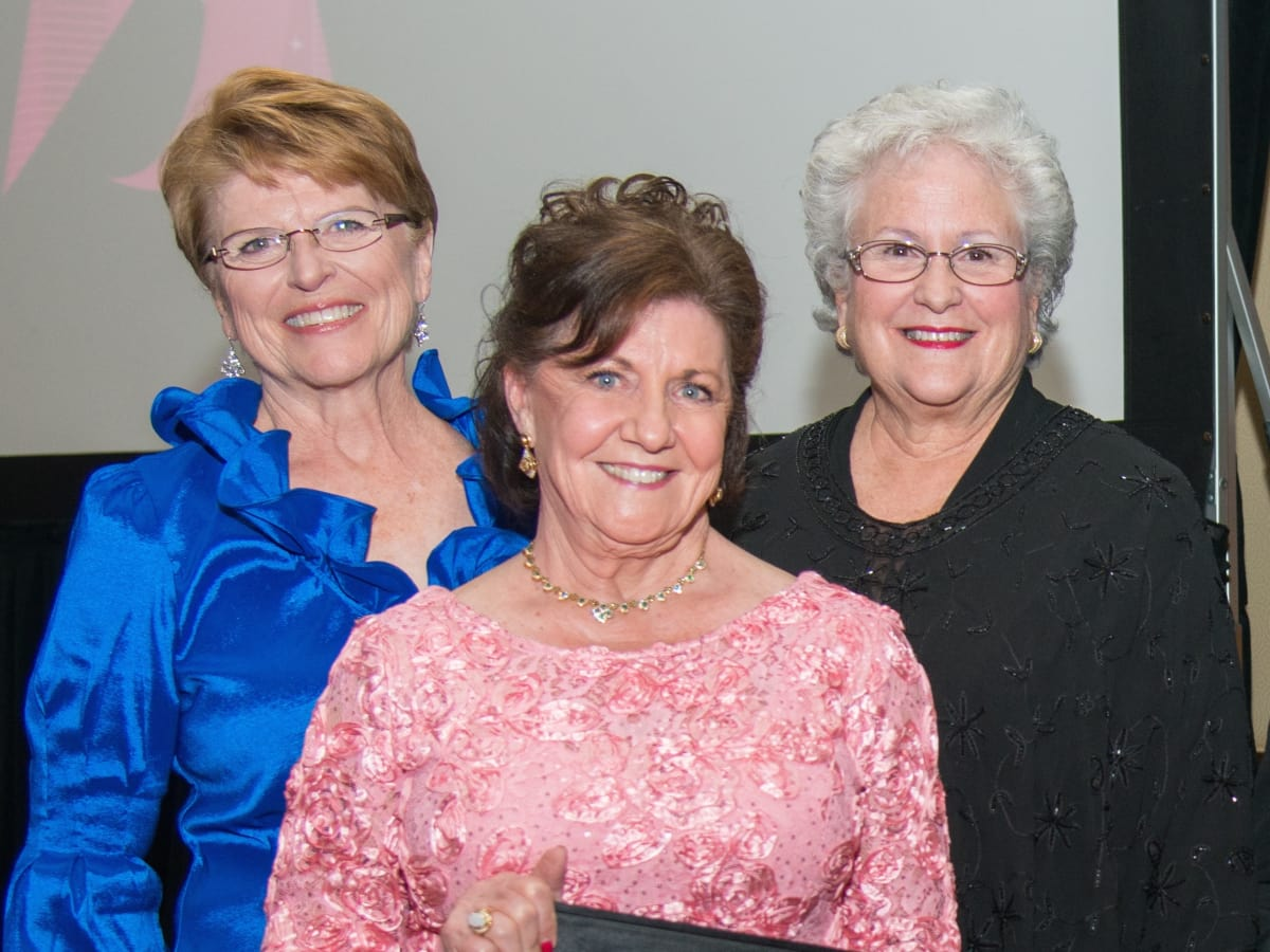 Komen Foundation Gala, Feb. 2016, Gayle McMorrow, Dorothy Gibbons, Marsha Eckermann