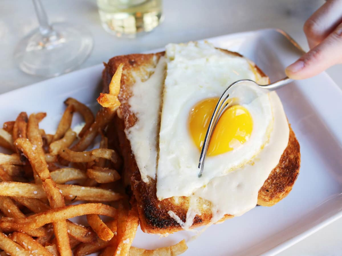 Toulouse Cafe and Bar croque madame