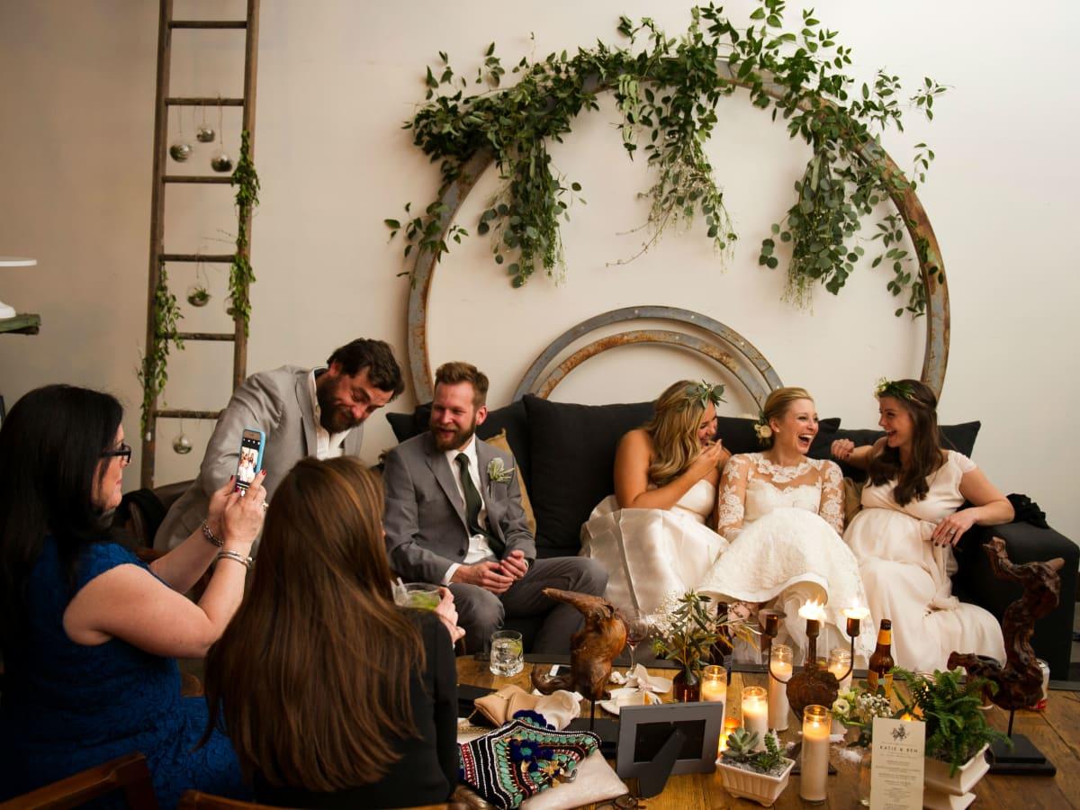 Katie Van Dyk Ben Nelson real wedding-lounging